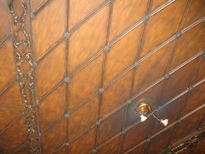 Wooden ceiling