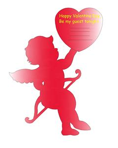 Cupid invitation for valentine party