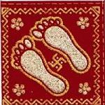 Lakshmi footprints for Diwali decoration