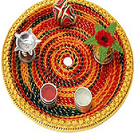 Puja thali decoration for Diwali