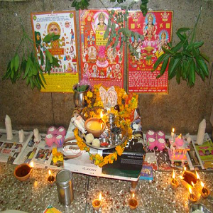 Diwali puja decoration