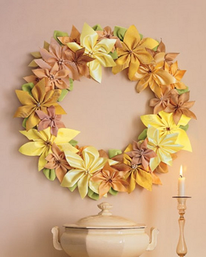 Flower wreath for christmas decor