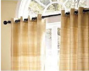 Eyelet curtains for living room
