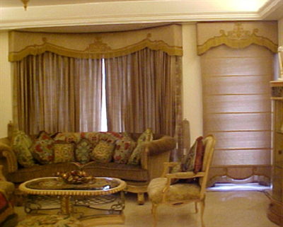 Living room valence curtains