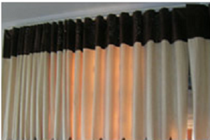 Pinch Pleated living room curtains