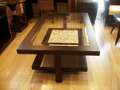Living room center table design