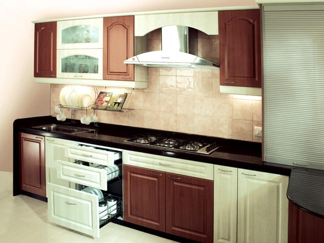 Modular kitchen designs for small kitchens afreakatheart for Straight kitchen ideas